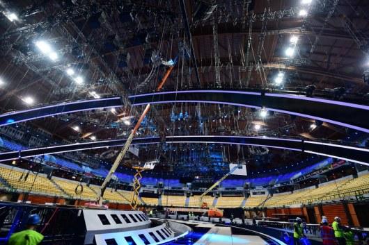 ВЛиссабоне завершают строительство основной сцены Евровидения